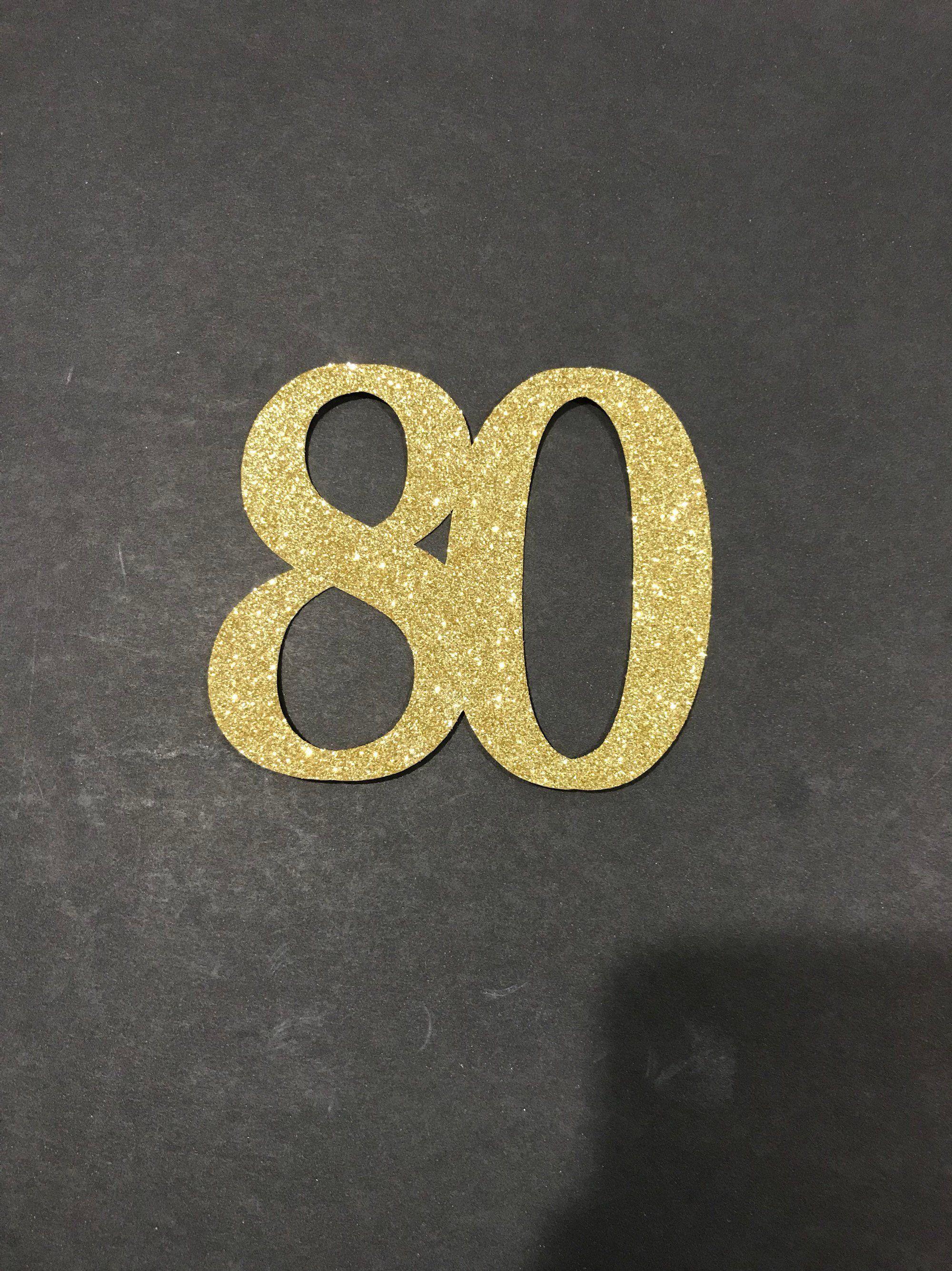 80th Birthday Decoration 80th Birthday Centerpiece Sticks Glitter