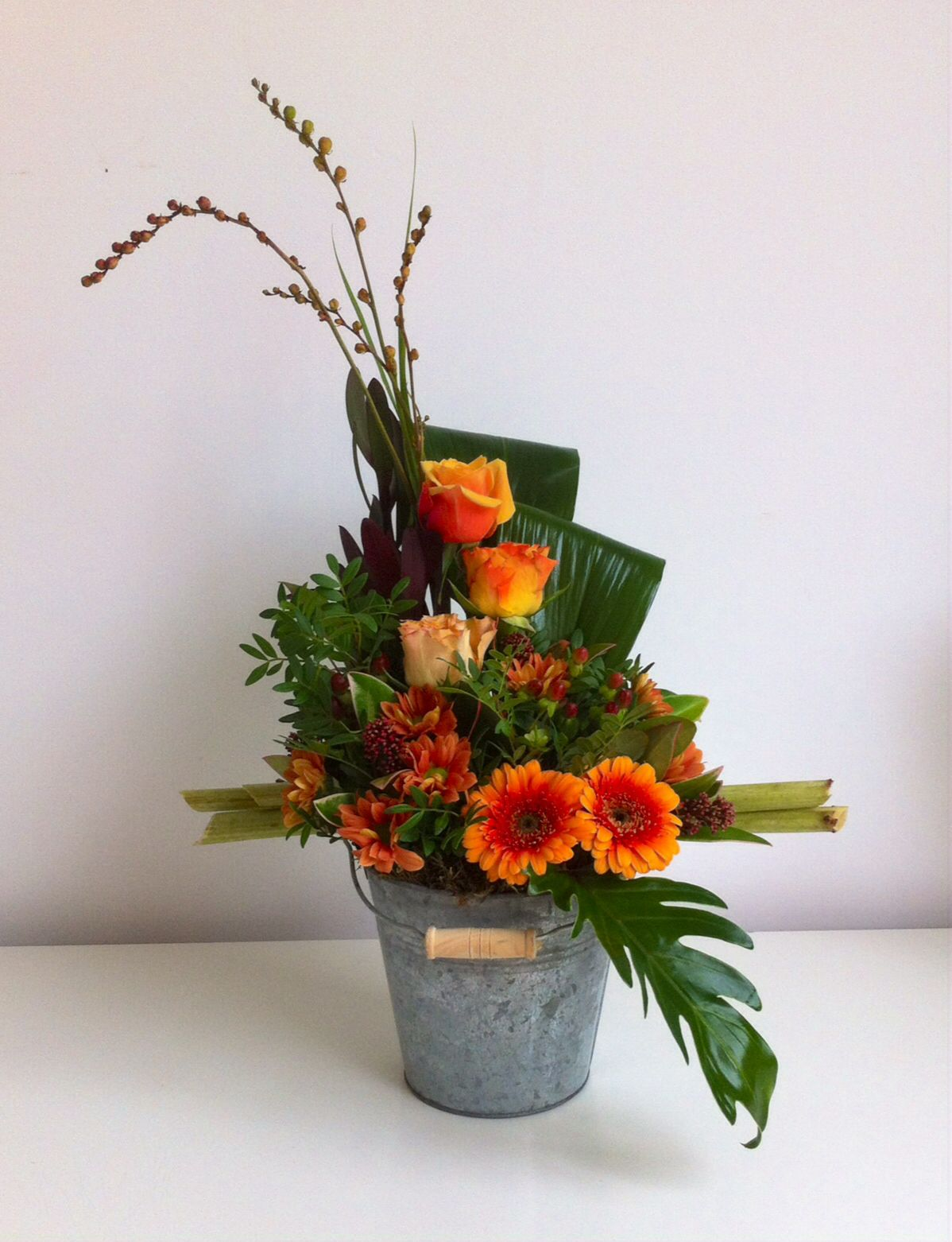 montage floral d 39 automne fall arrangement art florak pinterest montage automne et. Black Bedroom Furniture Sets. Home Design Ideas