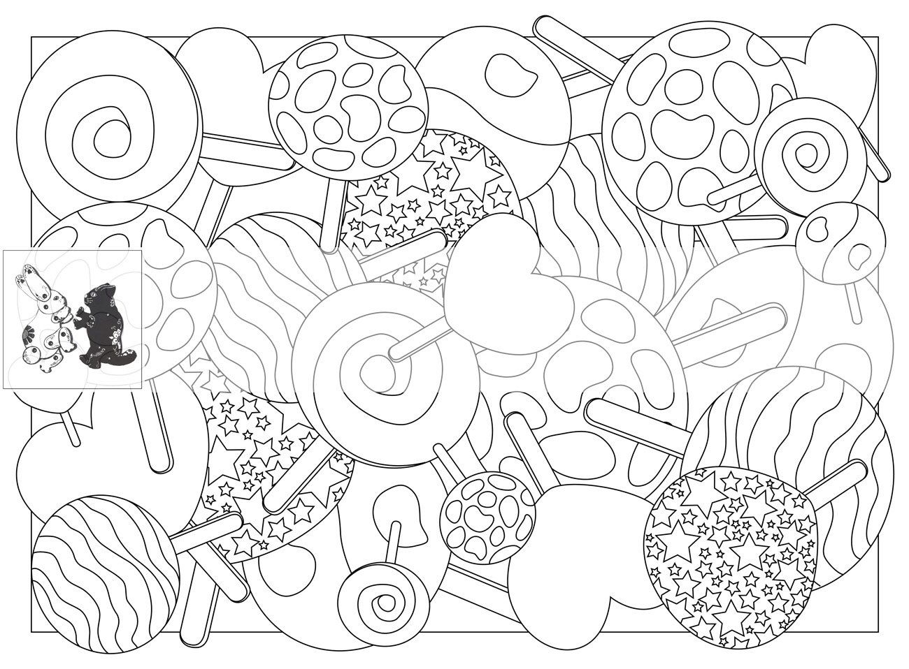 Pin On Sweets Cakes Colouring Pages