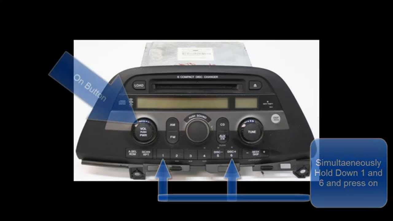 Honda Odyssey Radio Code Reset Unlock No Call To Dealer