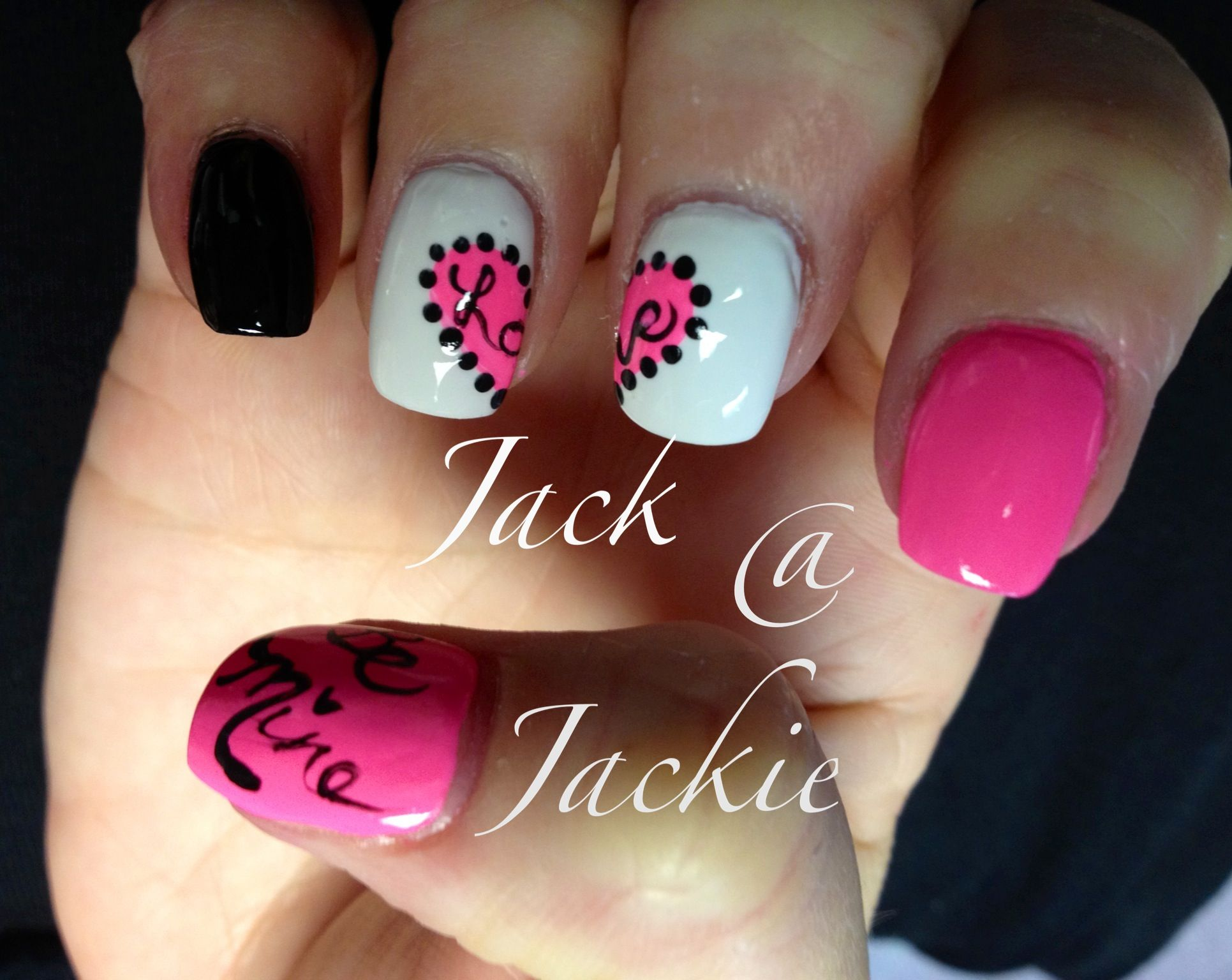 Valentine Nail Art Heart Love All That Gooshy Stuff Nails By Jeannie Jackson The Nail Station Valentines Nails Shellac Nail Designs Valentine Nail Art