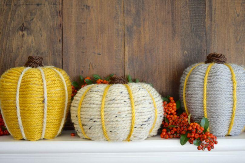 Yarn Wrapped Pumkin-Simple DIY