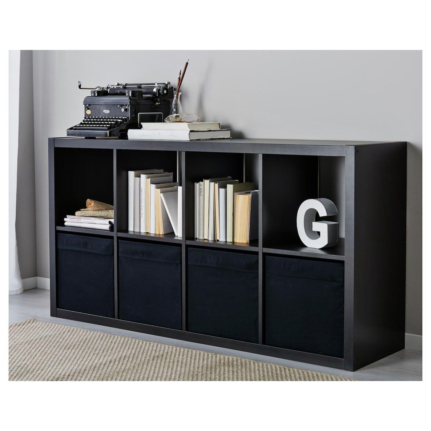 """DRÖNA Box, black, 13x15x13"""" IKEA Kallax, Kallax shelf"""