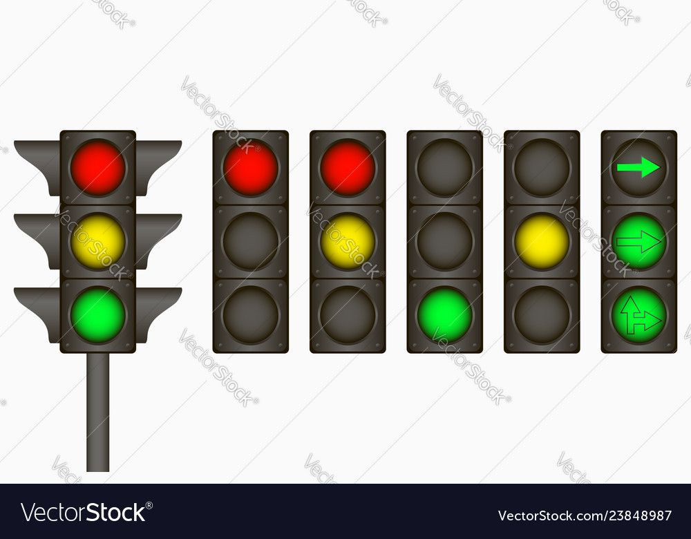 Traffic Light Royalty Free Vector Image Vectorstock Sponsored Royalty Light Traffic Free Ad With Images Traffic Light Electric Signs Ok Hand Sign