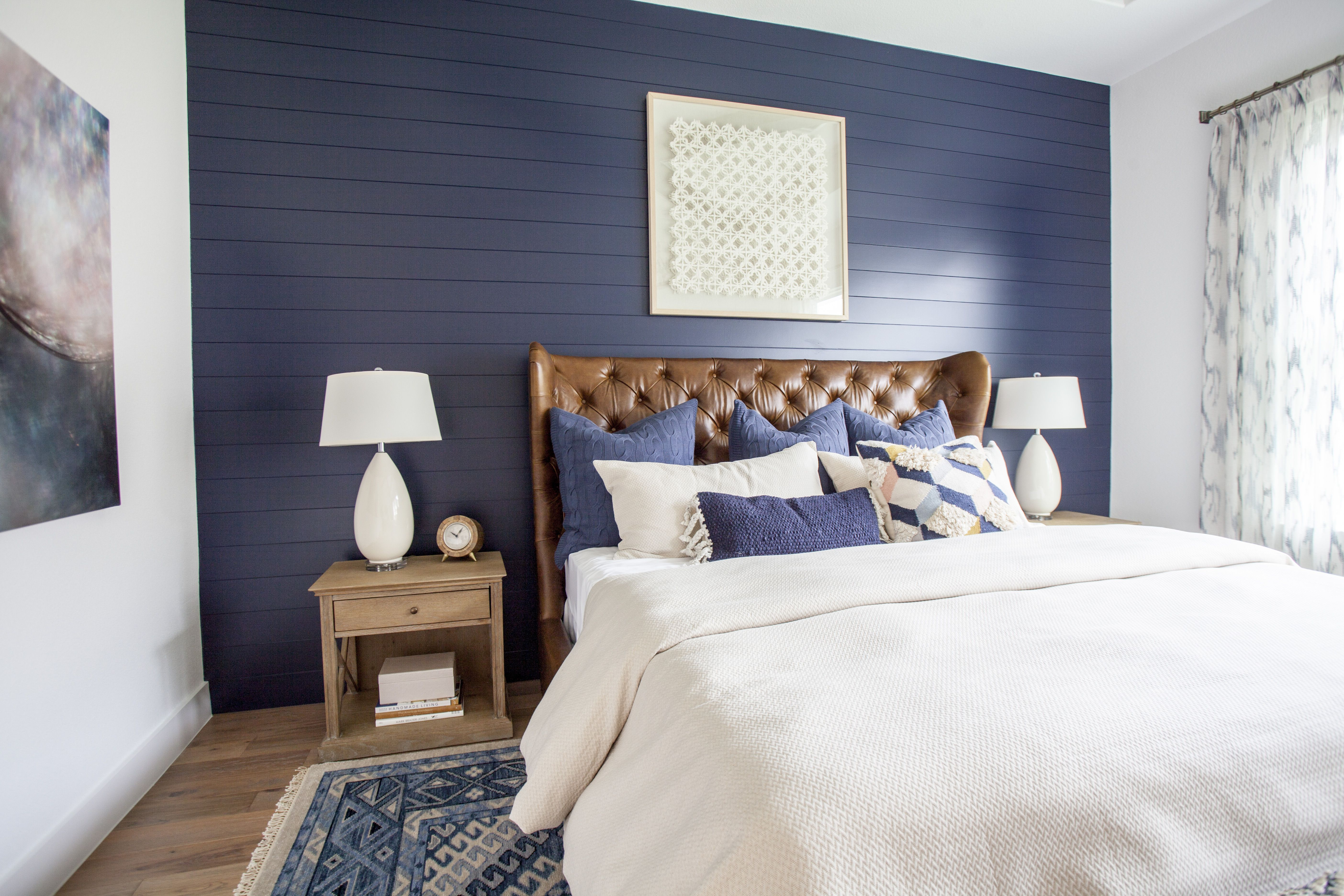 Blue Accent Wall In 2020 Blue Bedroom Walls Blue Accent Walls Shiplap Accent Wall