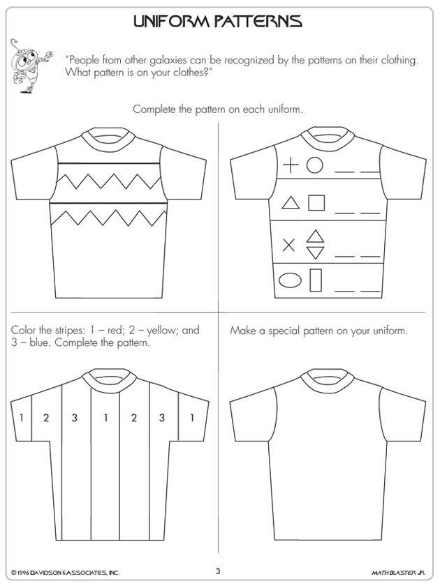 1st Grade Math Worksheets Visit Jumpstart Com Pattern Worksheet Kindergarten Math Worksheets Addition 1st Grade Math