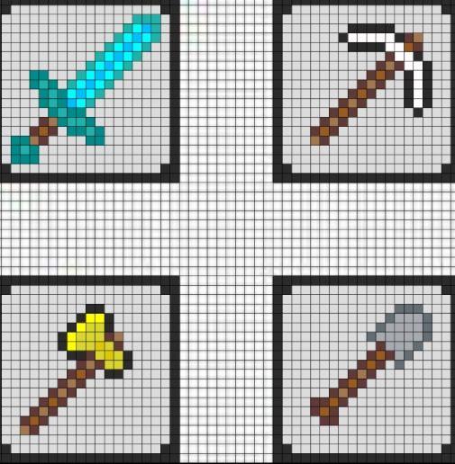 Awesome Minecraft Cross Stitch