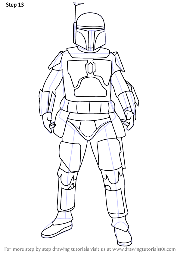 Learn How to Draw Boba Fett from Star Wars (Star Wars