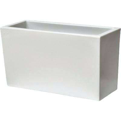 Plastic Rectangular Planter In L X W H White Large Planters Uk
