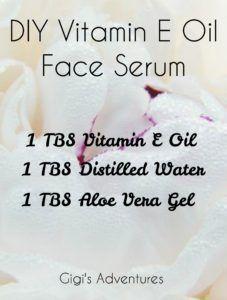 DIY 3-Ingredients Vitamin E Oil Face Serum #faceserum