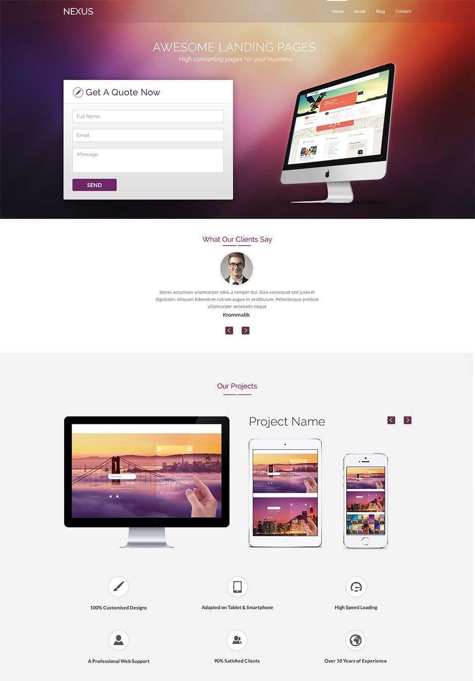 Landing Page Template 90 Free Psd Format Download Free