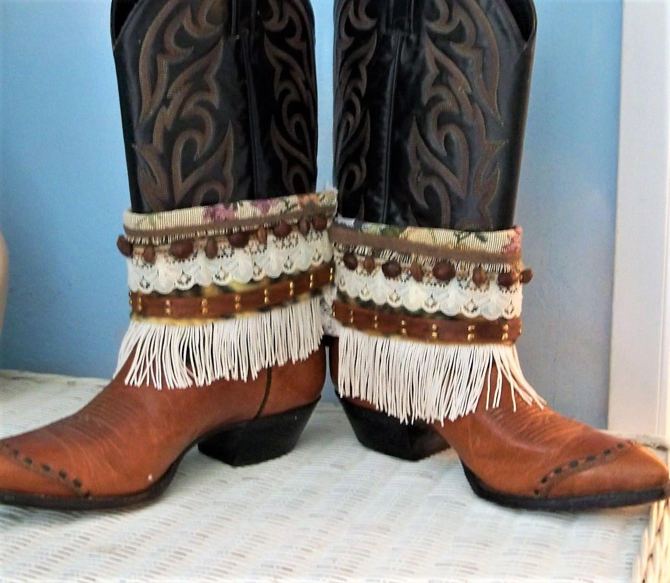 Boho boot belts~Western boots~Fringy boot belts~Boho hippy gypsy~Rider