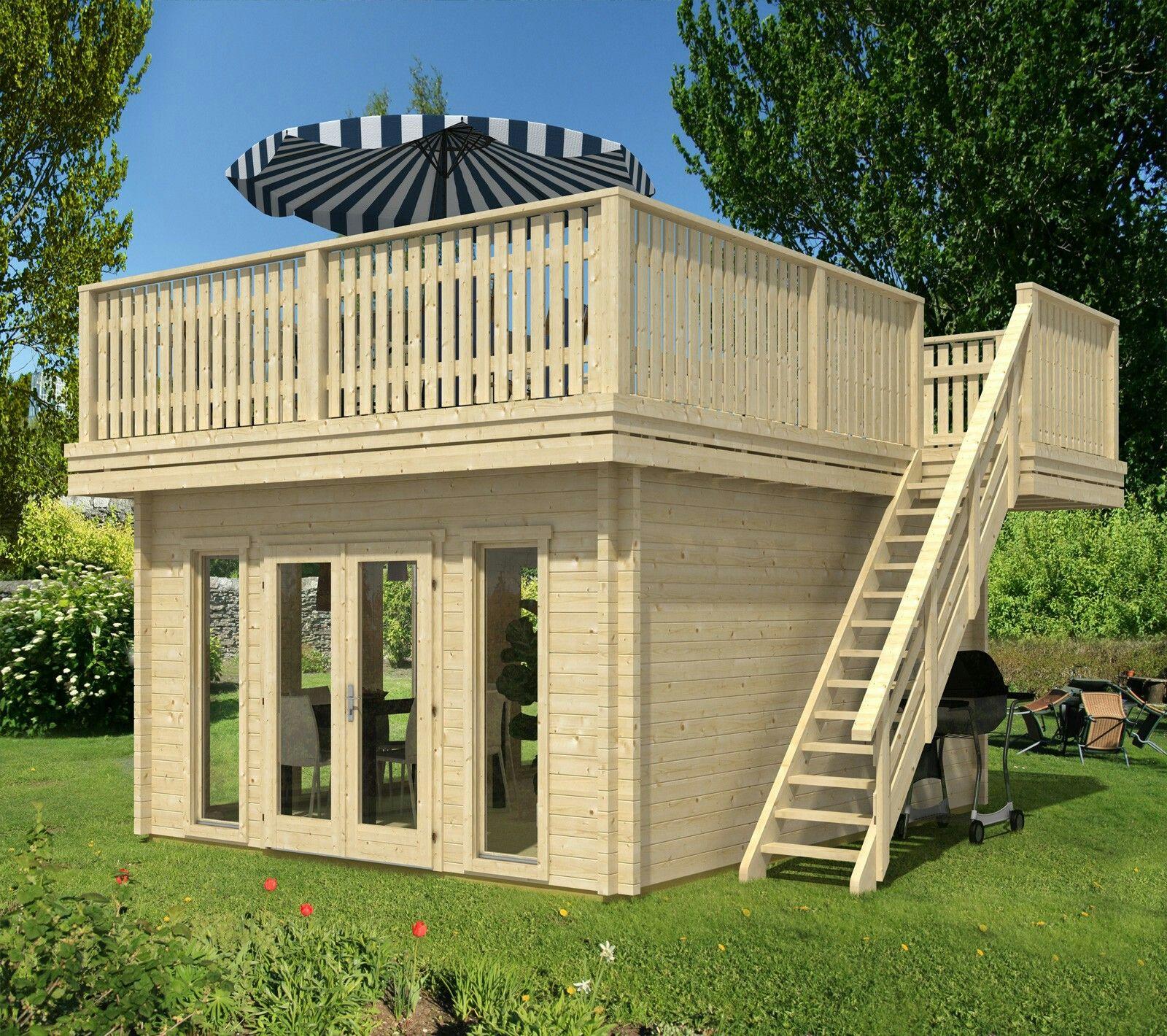 Gartenhaus Mit Dachterrasse Backyard Tiny House Design Small House