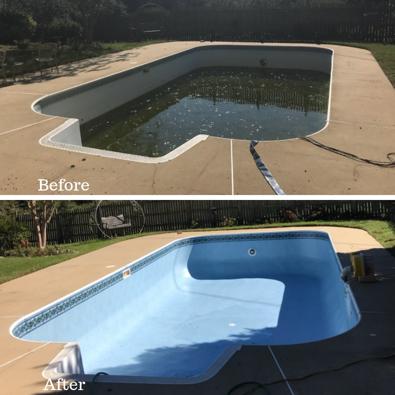 Another pool beautifully restored with a new liner from the ...