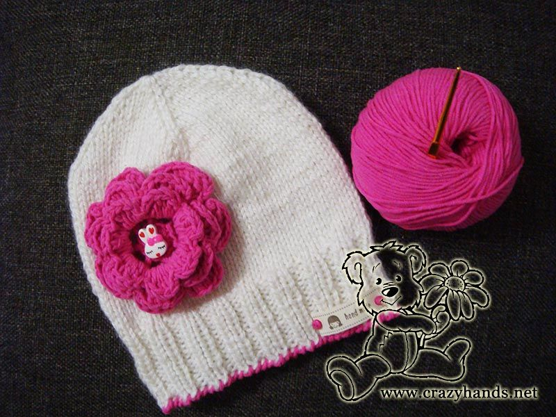 Free Knitting Pattern Of Baby Beanie For Beginners Easy Knitting