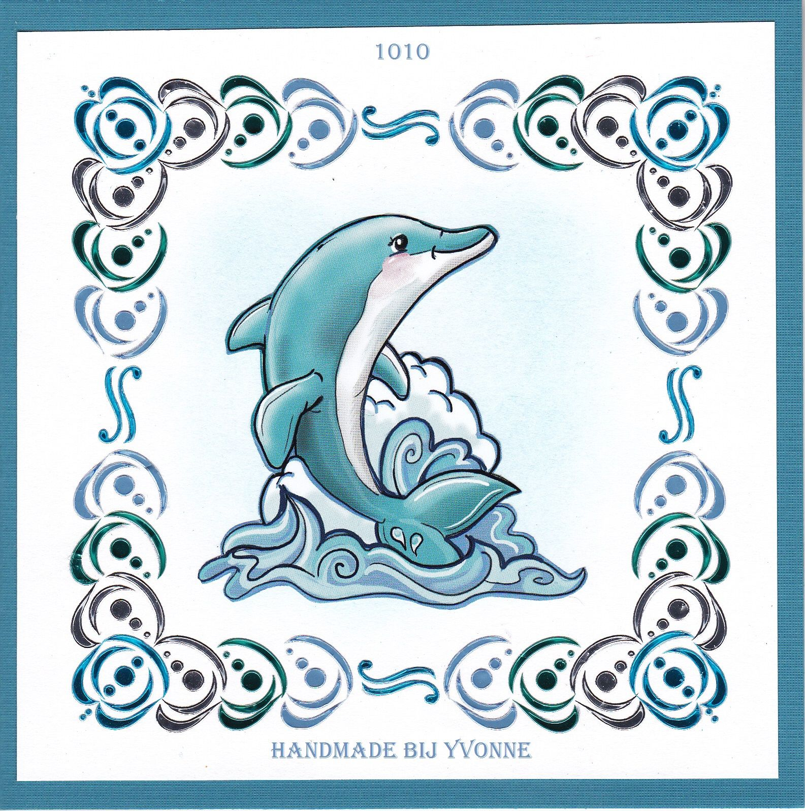 Ybb 1010 Dolfijn Kaarten Patronen Kleurplaten