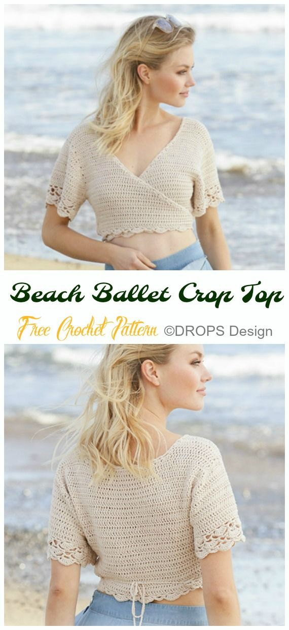 Crochet Women Summer Crop Top Free Patterns #crochetclothes