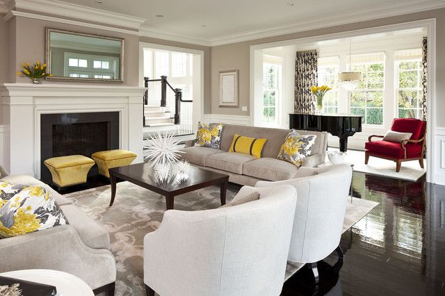 Transitional Living Room Designs __