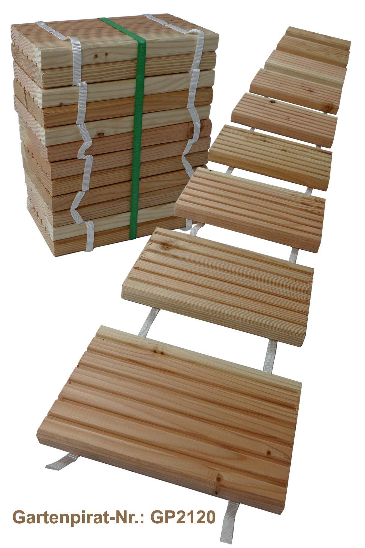 2 5 M Rollweg Aus Holzfliesen Gehwegplatten Holzfliesen Diy Gartenmobel