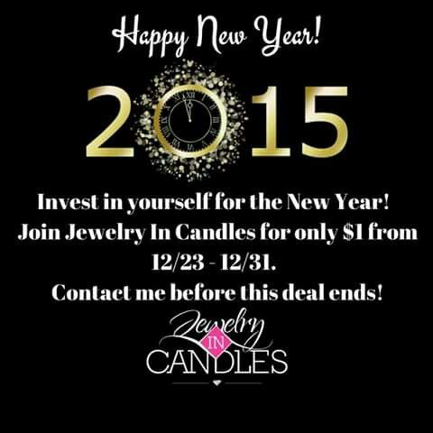 2½ hrs left to sign up for $1!!!!! https://www.jewelryincandles.com/store/lacicannard/i/8/become-a-rep/
