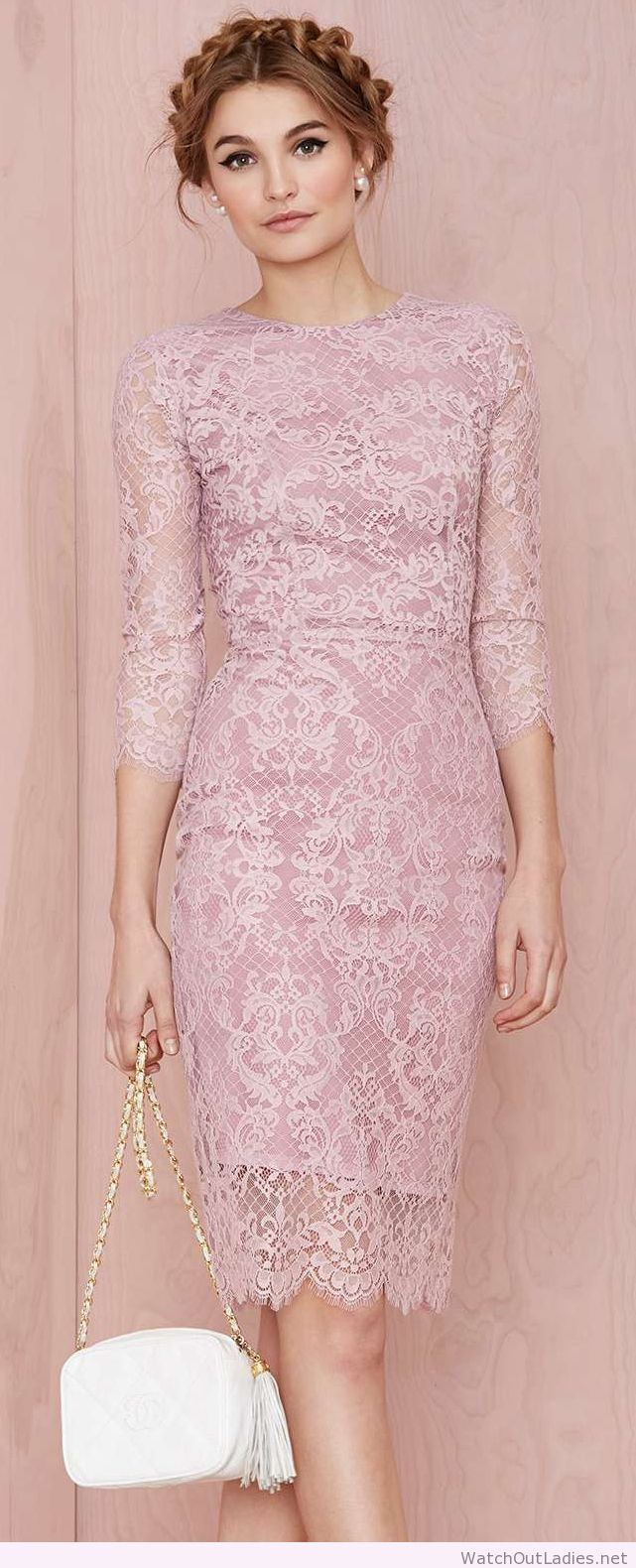 Pink pencil dress | watchoutladies.net | Pinterest