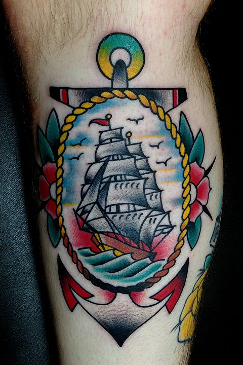 anchor ship tattoo traditional - Google Search