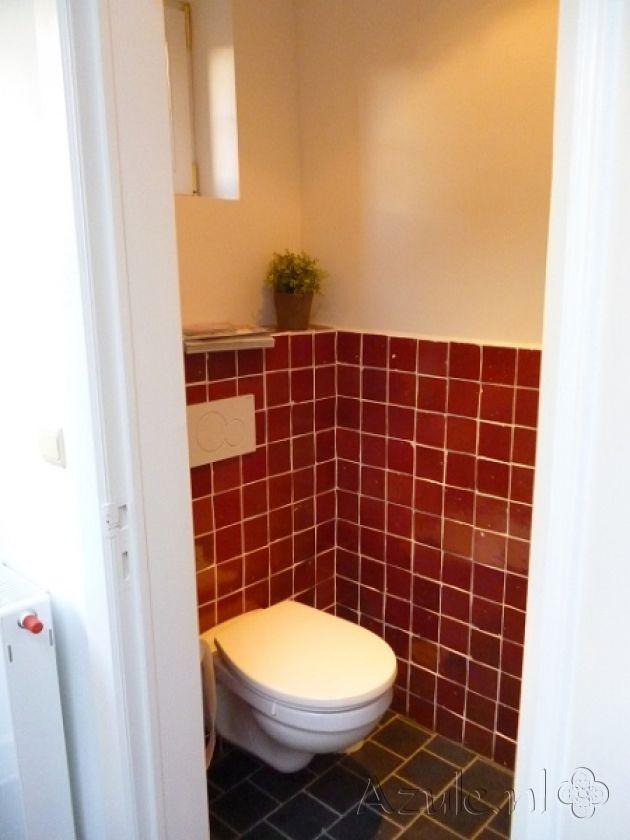Cementtiles Toilet - Zellige Rouge - Project van Designtegels.nl