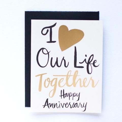 Life Together Anniversary Cards Letterpress Cards Anniversary