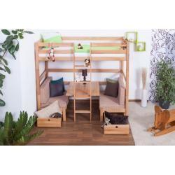 Photo of Kinderbett / Etagenbett / Funktionsbett Tim (umbaubar zu einem Tisch mit Bänken oder zu 2 Einzelbett