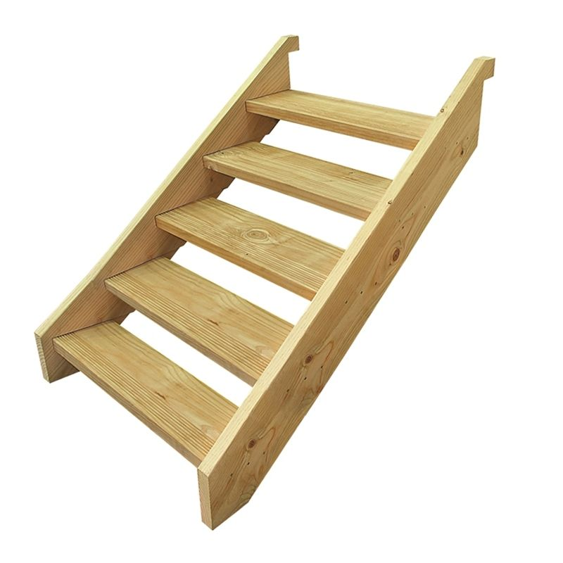 Home Improvement 8 Step Stair Stringer Pressure Treated Deck | 8 Step Wood Stair Stringer | Cedar Tone | Menards | Deck | Framing Square | Precut Prebuilt