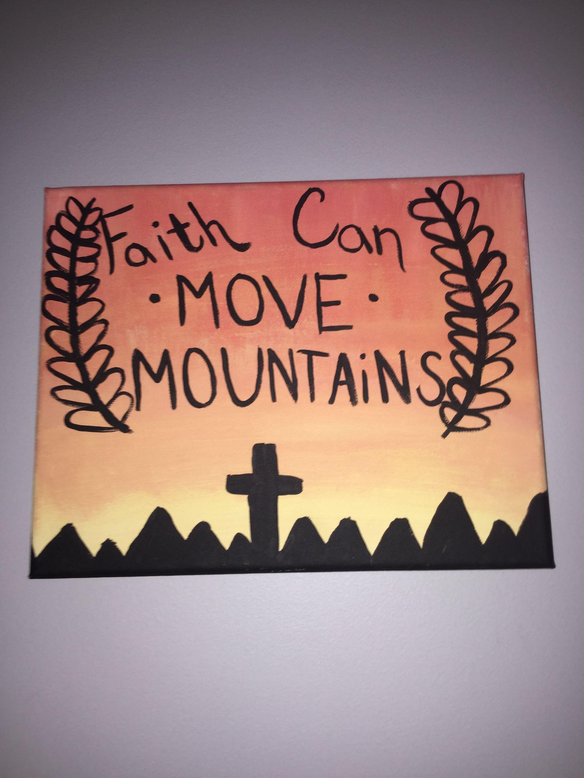 Faith can move mountains Canvas art