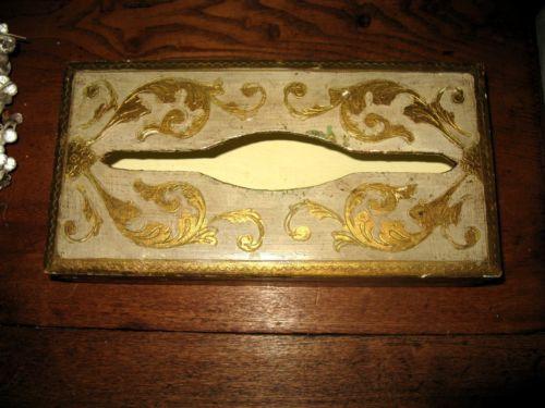 Vintage Shabby Paris Apartment Chic Florentine Tissue Holder Box | eBay
