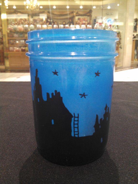 Hand Painted Mason Jar Luminary by ToastyBarkerBoutique on Etsy