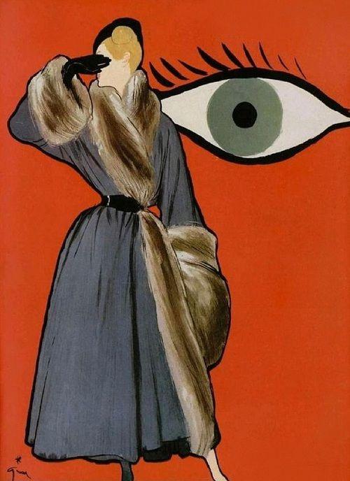 L'Officiel Special Collections D'Hiver, René Gruau, a renowned fashion illustrator (1909-2004) http://www.renegruau.com, 1947