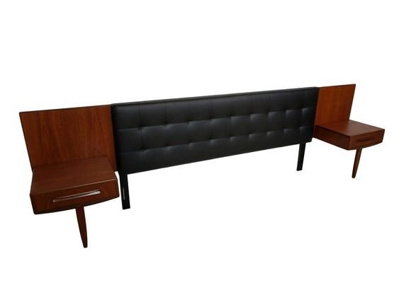 Best Mid Century Modern King Headboard With Floating Teak Image 400 x 300