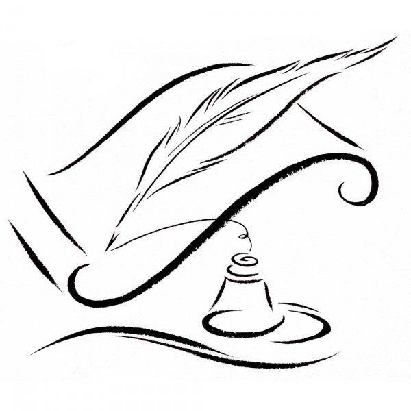 Quill pen & ink bottle « Sandy Haight Illustration   Vintage writing ...