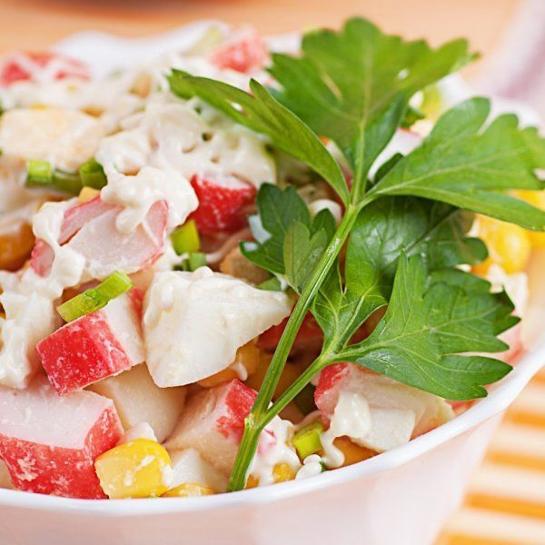 pinmarika kondratoviča on food with images  crab salad