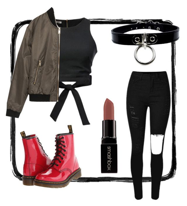 """Vixx Chained up"" by asiajboyd on Polyvore featuring Chicnova Fashion, Dr. Martens, Smashbox and Zara"