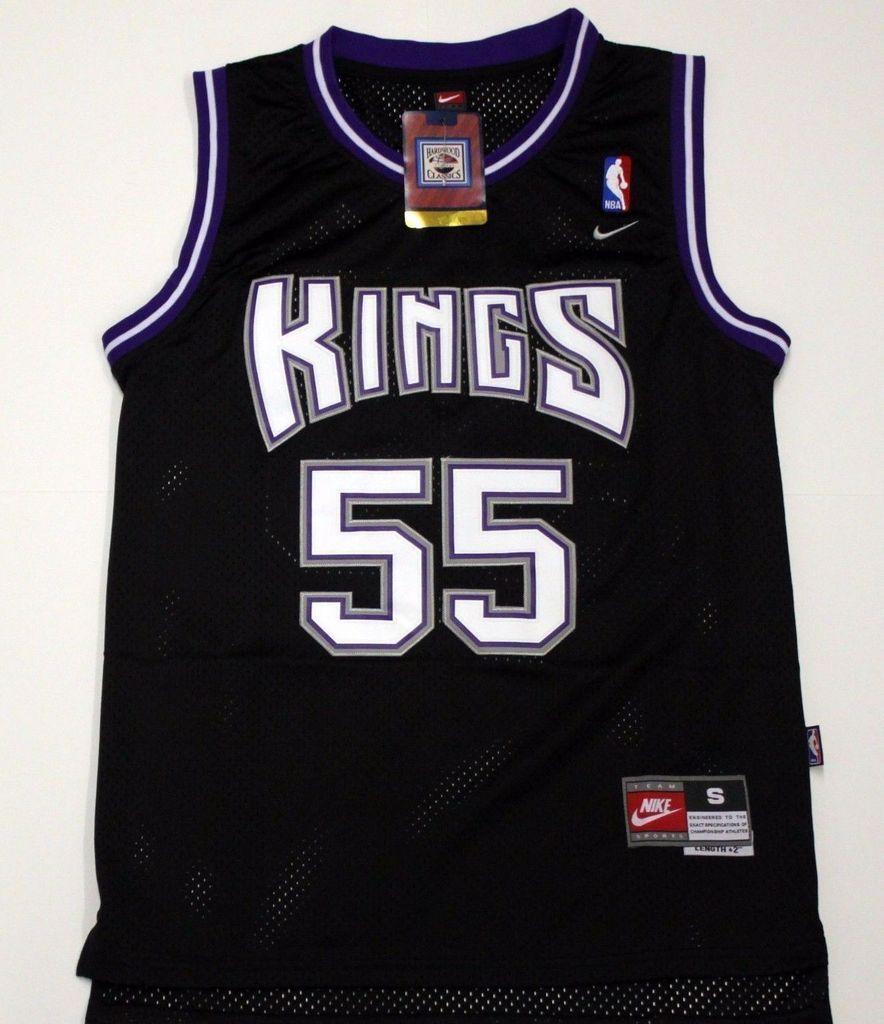 324d701fe Men 55 Jason Williams Jersey Black Sacramento Kings Throwback Swingman