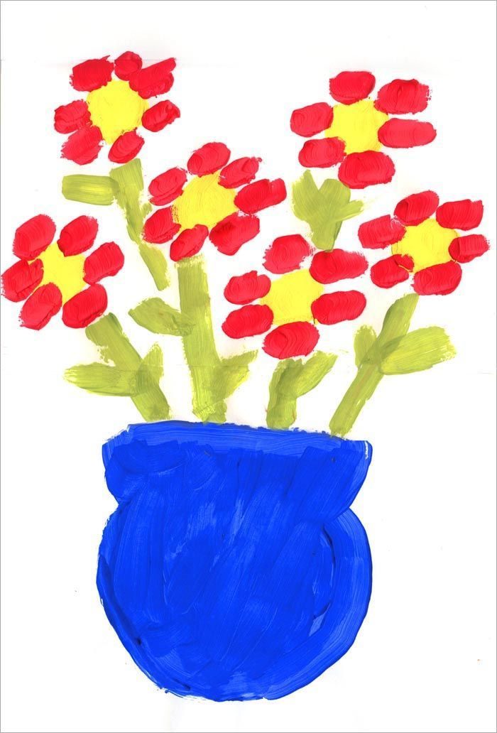 Art projects for kids first flower painting with step by Fun painting ideas for toddlers