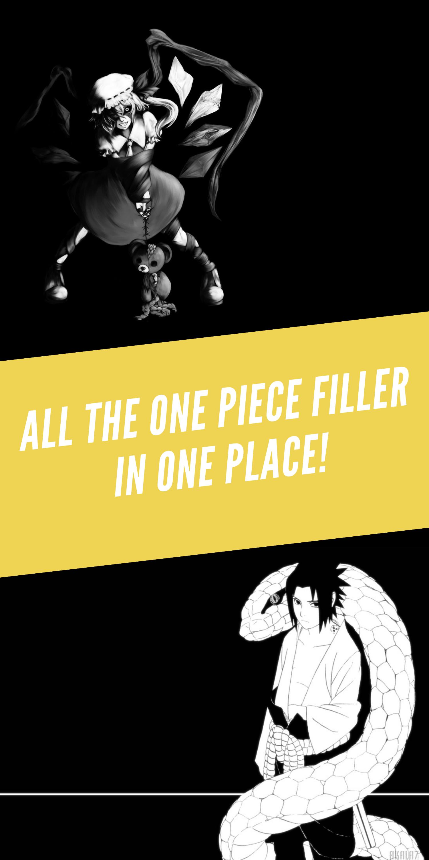 Ultimate One Piece Filler List Anime, One piece anime
