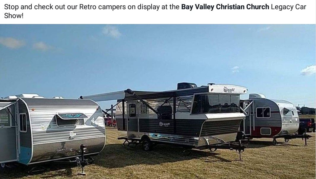 July 28th 2018 at Legacy Car Show! Used rvs