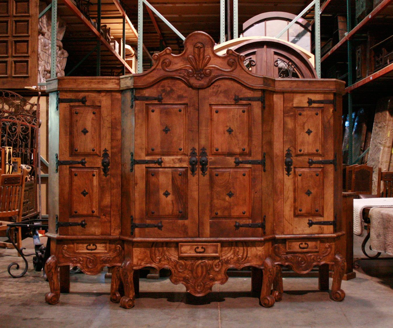custom spanish style furniture. Three Piece Conquista Armoire With A Traditional Spanish Colonial Accents Custom Style Furniture