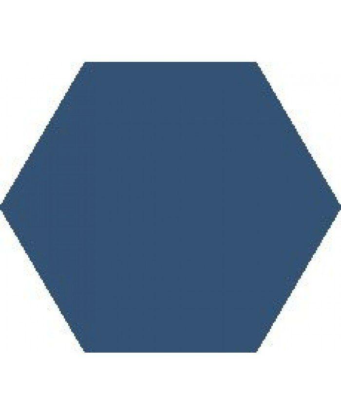 These single colour Marine Blue hexagonal tile ,uses a ...