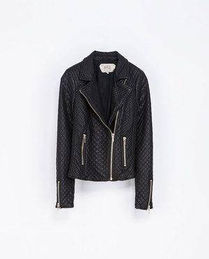 zara faux leather quilted biker jacket - Google Search | fashion ... : zara leather quilted jacket - Adamdwight.com