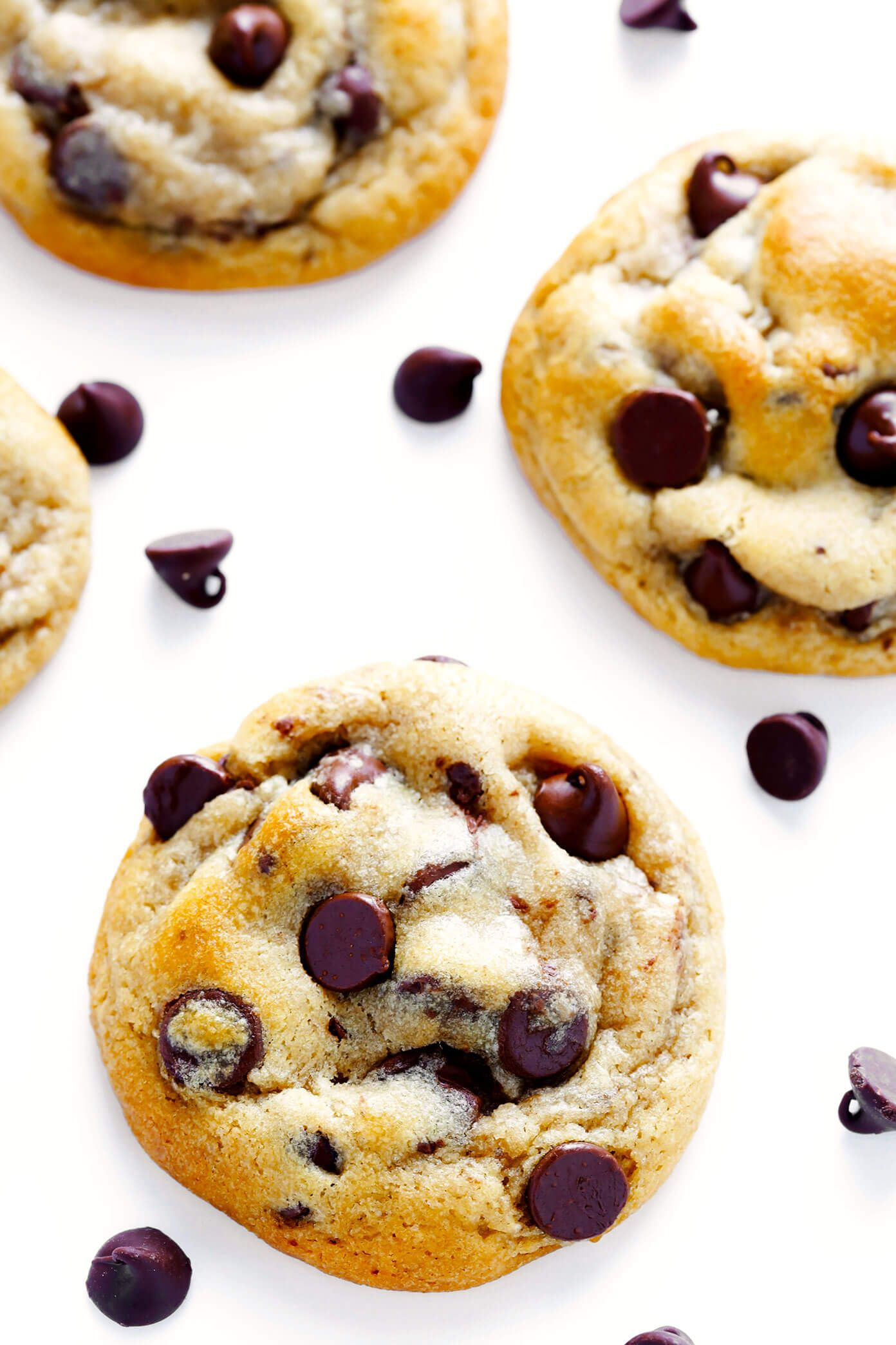 The BEST Chocolate Chip Cookies My all-time favorite chocolate chip cookie recipe! These chocolate chip cookies are perfectly soft and chewy and buttery, loaded up with semisweet chocolate chips, and completely irresistible. | Gimme Some Oven
