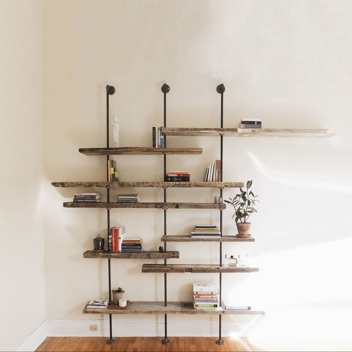 The Hover shelving unit is made from assorted hand-selected ...