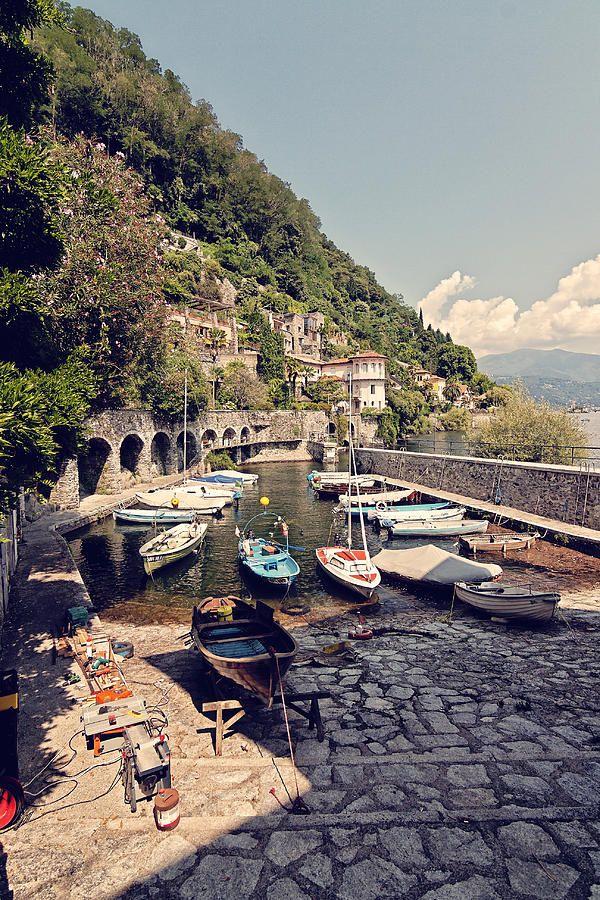 Cannero Riviera's Small Marina in Lago Maggiore, Italy Piemonte