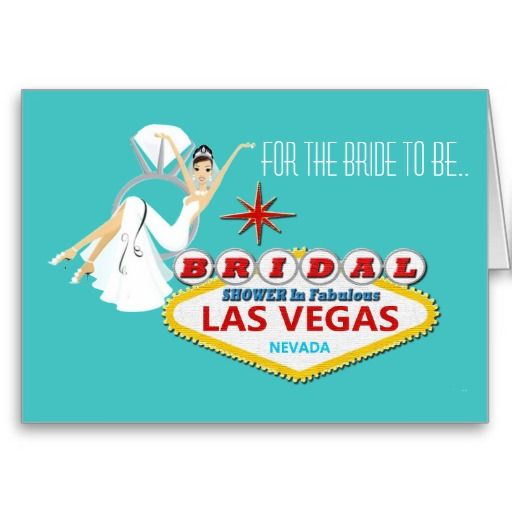 Bride to Be BRIDAL SHOWER Las Vegas Card