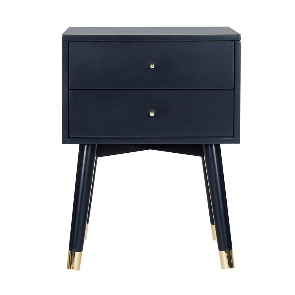 Hafley Three Drawer End Table Oxford Blue Project 62 Adult Unisex In 2020 End Tables End Tables With Drawers Coaster Furniture